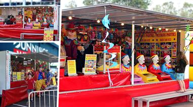 The FUN TRAILER -  LAUGHING CLOWNS, POPCORN MACHINE & FAIRY FLOSS MACHINE, All In Fun Mobile Outlet.